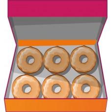 Доставка  6 Рингов оригинальных из Dunkin Donuts