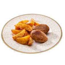 Доставка  Домашние котлеты с картофелем по-фермерски из Теремок