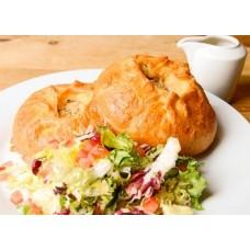 Доставка  Курник (2 шт) с бульоном и салатом из Хлеб Насущный