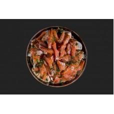 Доставка  Салат с лососем 100г из Братья Караваевы
