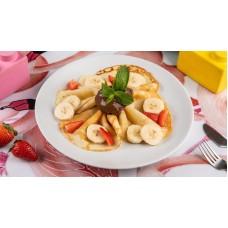 Доставка  Блинчики с нутеллой бананом и клубникой (Детское меню) из Шоколадница