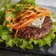 Доставка  Блю чиз бургер в листьях из ФАРШ