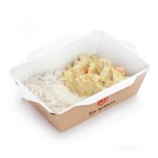 Доставка  Курица карри с рисом и кумином из Три правила