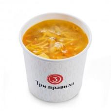 Доставка  Куриный суп с домашней лапшой из Три правила