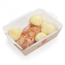 Доставка  Запечённый цыпленок с отварным картофелем из Три правила